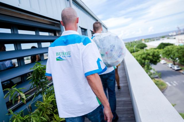 L'équipe du Bureau recyclage, solution de collecte de déchets papier et métal sur La Réunion