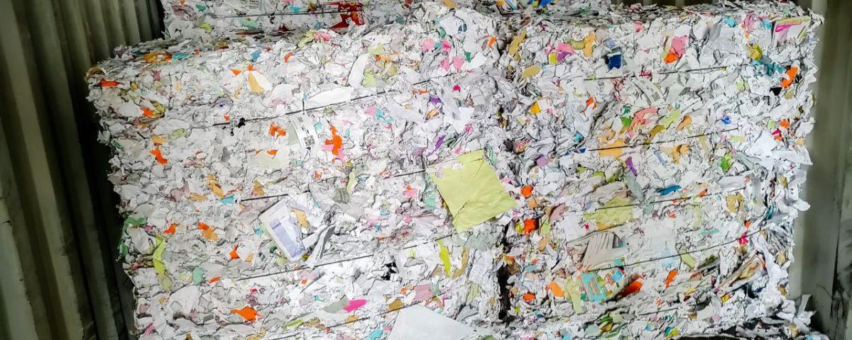 Le papier collecté est pret à devenir une nouvelle ressource !